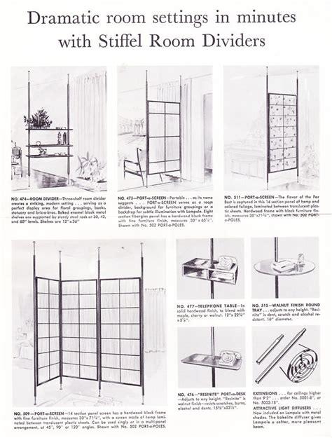 Tension Pole Room Divider Tension Pole Room Divider M O D E R N F R O S T Space Dividers Vintage 60s Mid Century Retro