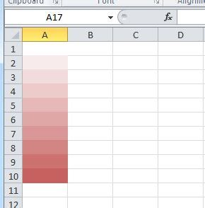 excel fill color shortcut how to assign gradient colors to an excel column stack