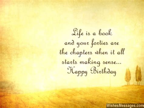 Inspirational Quotes Birthday Wishes 40th Birthday Wishes Quotes And Messages Wishesmessages Com