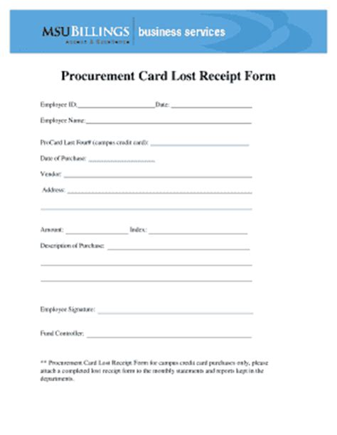 missing receipt form template lost receipt form fill printable fillable