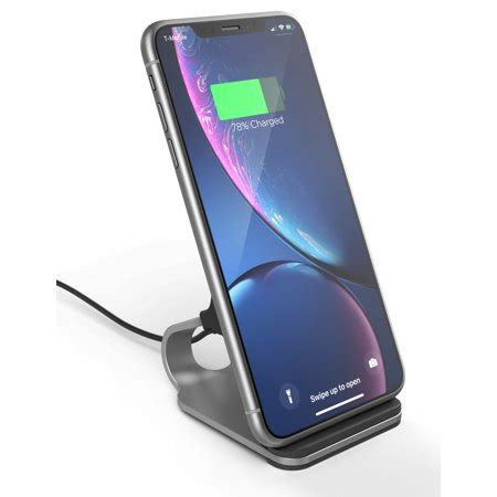 encased wireless charging stand for iphone xr wireless charger 2018 qi compatible desktop