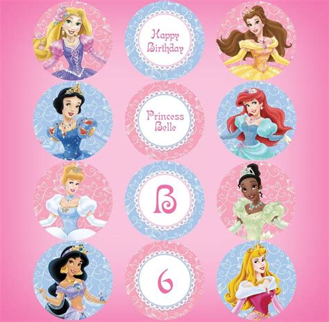 printable 12 mixed disney princess party cup cake toppers 1000 images about leila s party on pinterest disney