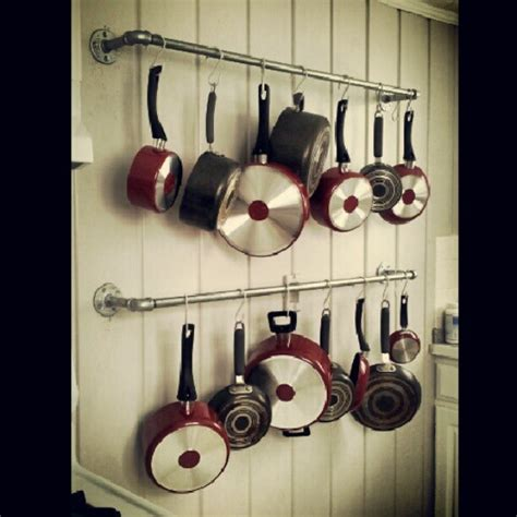 Pipe Pot Rack by Pot Rack Made With Galvanized Pipes Kitchen Galvanized Pipe Kitchen Ideas And