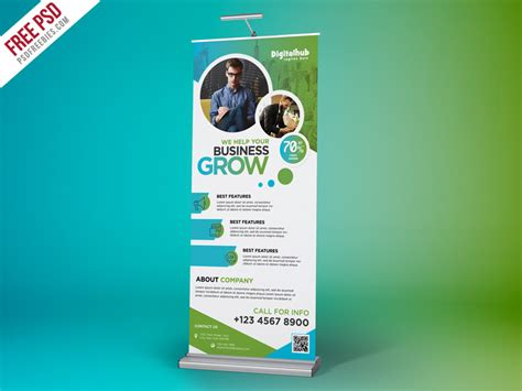 templates for roll up banners business promotion roll up banner template psd