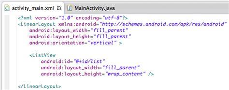 cara membuat file xml di android cara membuat listview di android