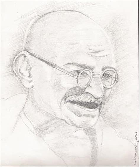 biography sketch of mahatma gandhi gandhiji sketch