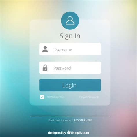 home design login elementos de formulario fotos y vectores gratis