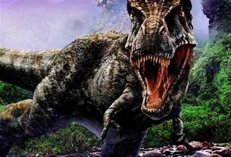 framed print  rex battling   rainforest picture poster dinosaur art ebay