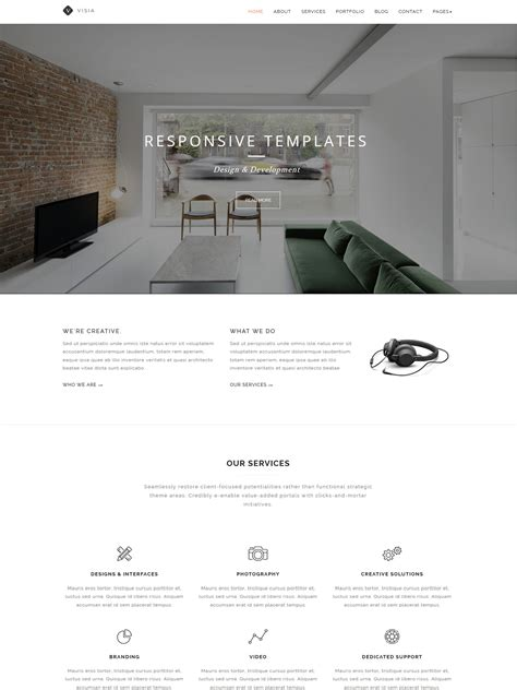 Arch Multipurpose Onepage Multipage Html Template visia multipurpose one multi page html template themes templates