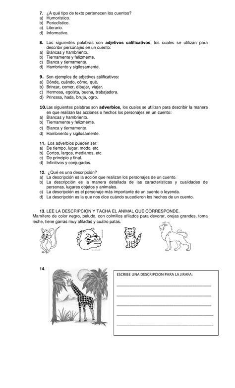 examen bloque 4 de la entidad donde vivo examen iv bimestre 2011 2012