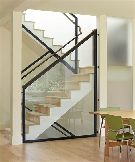 Free Standing Stairs Design Stair Railing Ideas Staircase Modern With Freestanding Glass Guardrail Neutral Colors Open