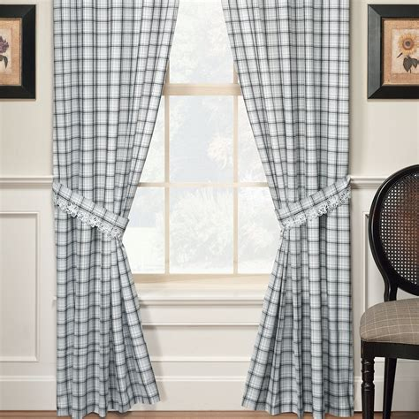 plaid window curtains dover plaid window treatments