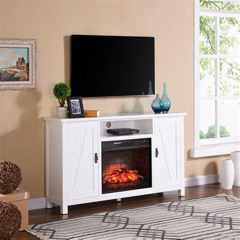 farmhouse style tv stand fireplace tv stands electric fireplaces the home depot