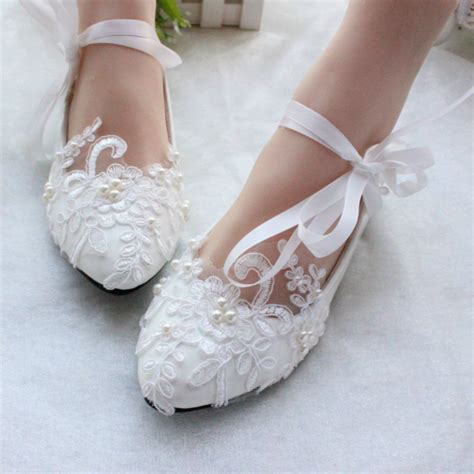 ivory slippers wedding free shipping white ivory lace pearls wedding shoes