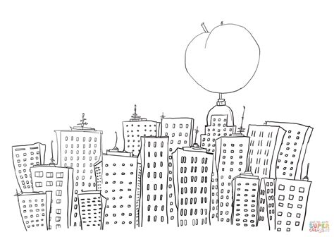 coloring page new york and the in new york coloring page free