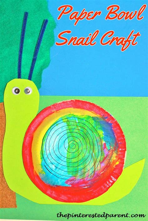 Paper Plate Snail Craft - snail crafts the pinterested parent