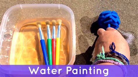 preschool painting free water painting toddler and preschool activity