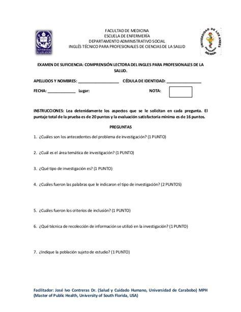 examen es de ingles preguntas para el examen de suficiencia de ingles t 233 cnico
