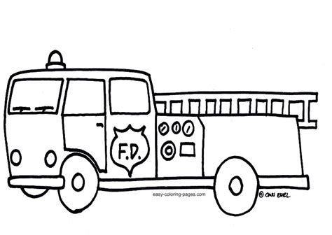 simple fire truck coloring page fire truck coloring pages getcoloringpages com