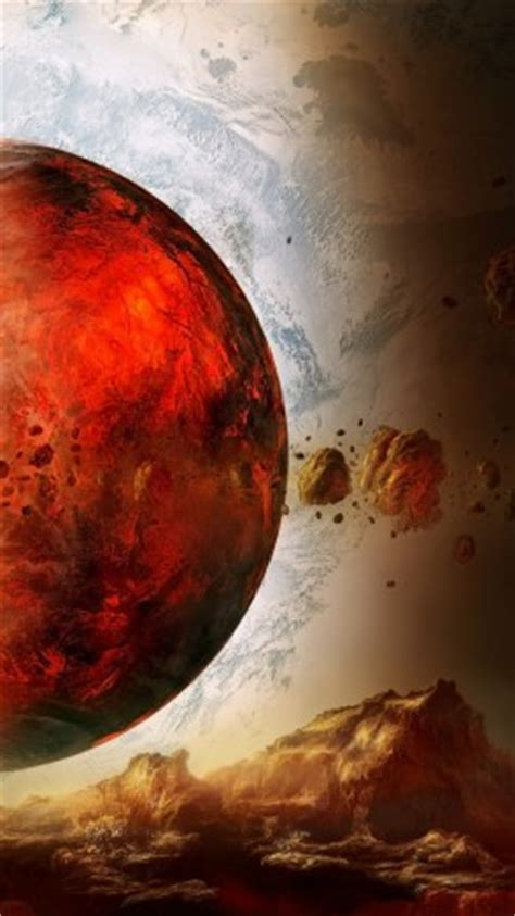 wallpaper space fire planet, exoplanet, planet, space