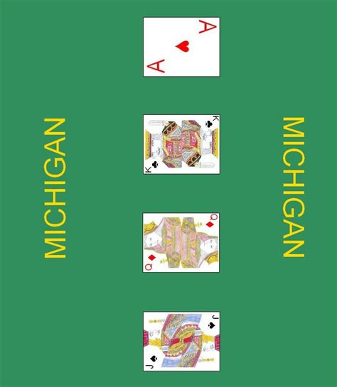 print card games online layout for playing the card game michigan