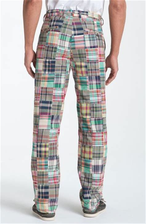 Womens Madras Patchwork Shorts - brothers clark plainfront patchwork madras in