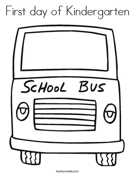 preschool coloring pages first day of school first day of kindergarten coloring page twisty noodle