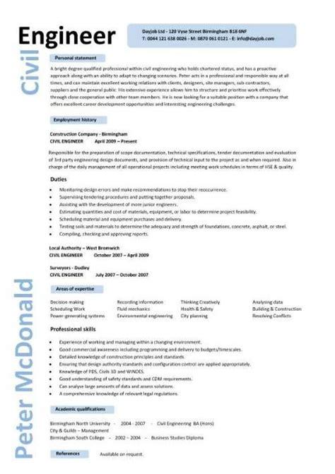 exle engineering resume civil engineering cv resume template http www
