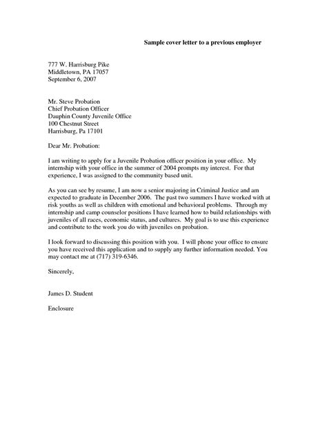 cover letter for probation officer probation officer cover letter sle best letter sle