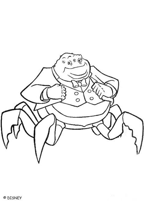 monsters inc coloring pages online waternoose coloring pages hellokids com