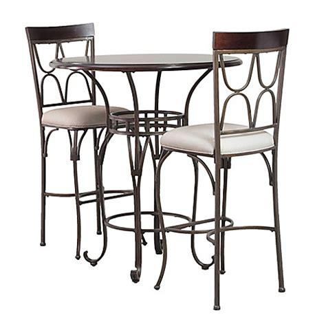 Bed Bath And Beyond Bistro Table 3 Coleman Pub Table Set In Espresso Bed Bath Beyond