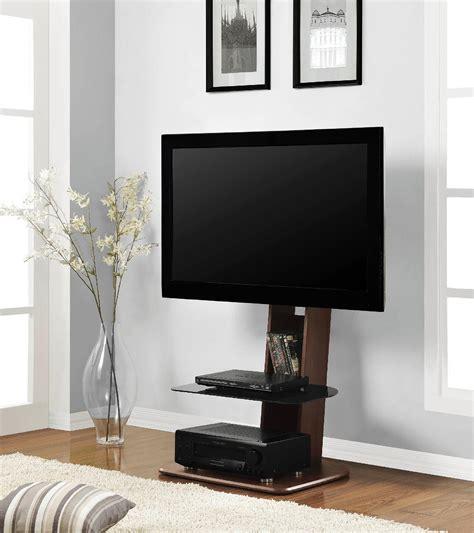 Minimalis Brown minimalist brown walnut wood flat screen tv stand with