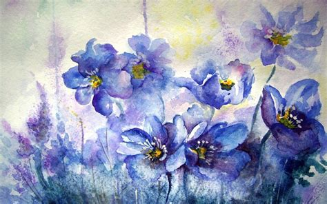 wallpaper flower portrait watercolor wallpapers wallpaper cave