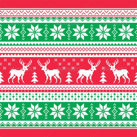 christmas jumper pattern vector free christmas and winter knitted pattern card graphicriver