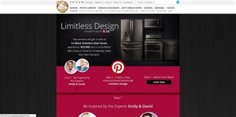 Hgtv Sweepstakes And Contests - hgtv com lgcontest lg limitless design contest