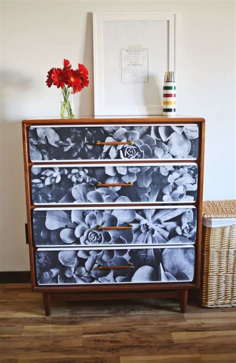 Diy Decoupage Furniture - diy photo decoupage renovation of an sideboard