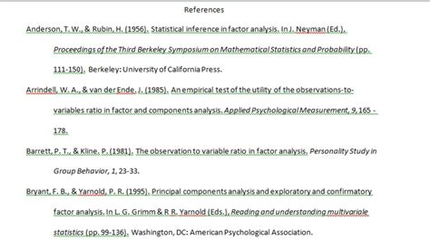 Apa Essay References by Apa Research Paper References
