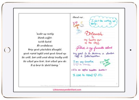 My Digital Bullet Journal Goodnotes Bullet Journal Template