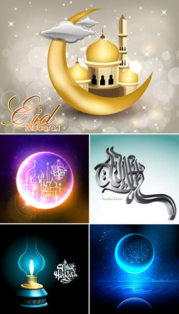 themes quran themes quality graphic resources islamic theme vector set