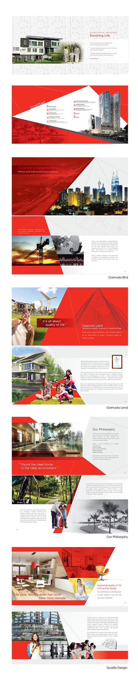 land layout brochure gamuda land company profile on behance pinteres
