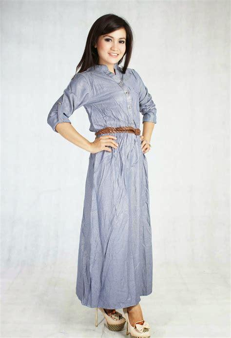 desain gamis rabbani model long dress modern untuk wanita masa kini modelhijab