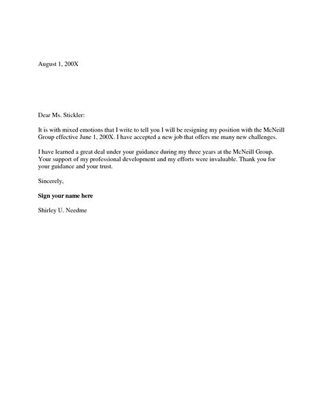 Resignation Letter Two Weeks Notice Sles Letter Of Resignation 2 Weeks Notice Template Best Letter Sle