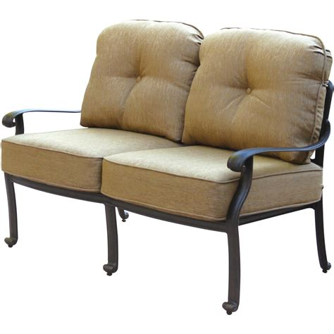 patio furniture seating loveseat cast aluminum lisse