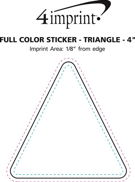 code section 195 4imprint com full color sticker triangle 4 quot 143859 4