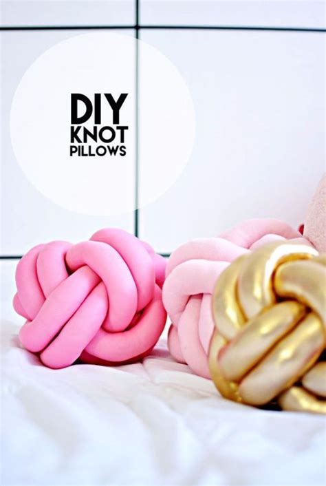50 crafts for teens to make and sell knot pillow diy