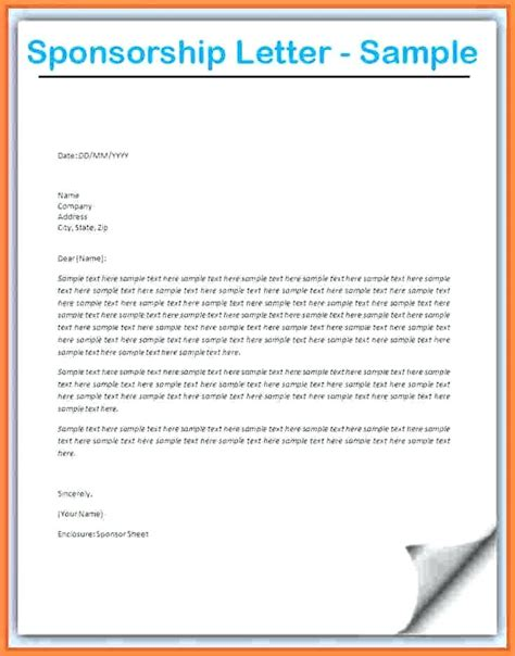 athletic sponsorship letter template sports sponsorship letter template trattorialeondoro