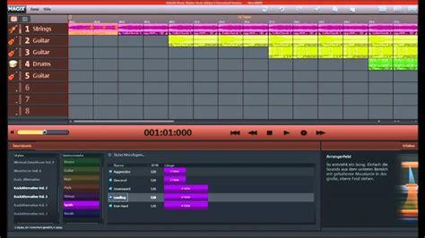 theme music maker magix music maker rock edition 4 rock intro youtube