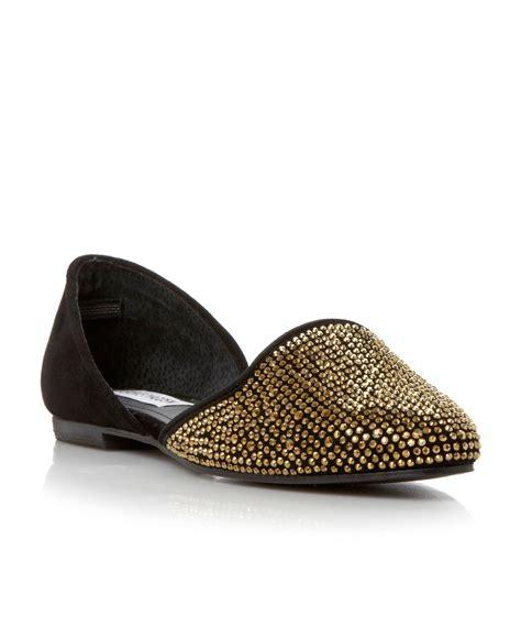 steve madden slippers steve madden 2 part slipper shoes in gold black lyst