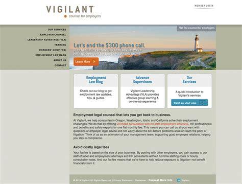 vigilant website designed  adpearance