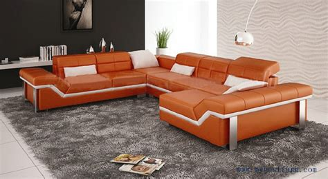burnt orange sofa set colored leather sofas captivating fresh living rooms color